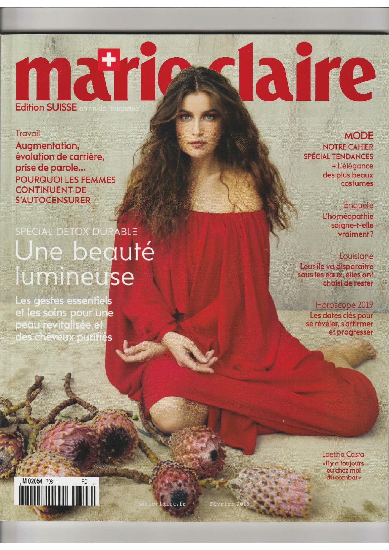 couverture magazine marie claire suisse