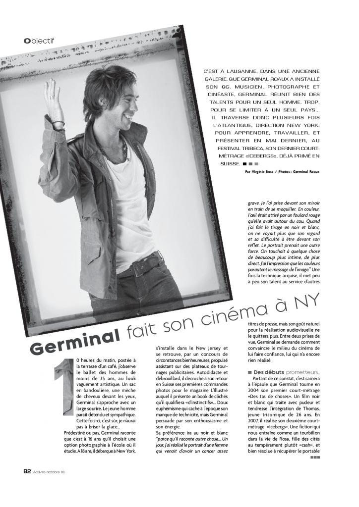 article de presse portrait